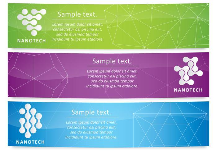 Nanotechnology Banners vector