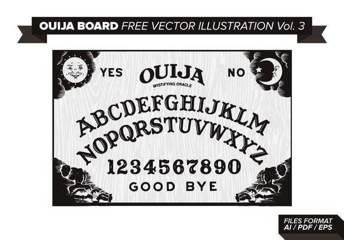 Ouija Board Gratis Vector Illustratie Vol. 3
