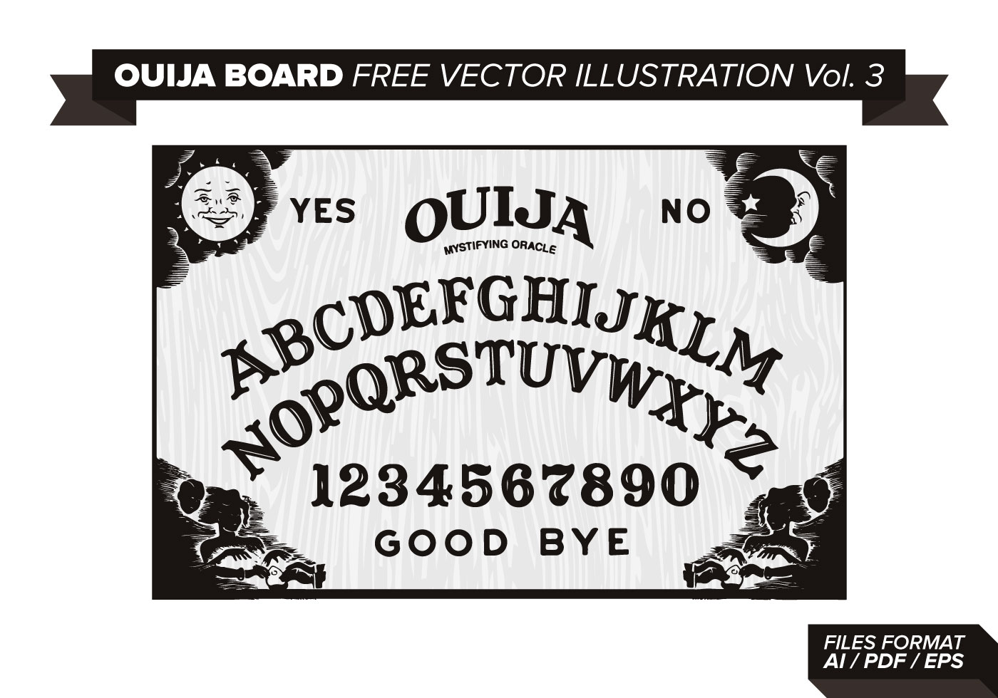 ouija board free vector illustration vol 3 download basketball clipart black and white images basketball clipart black and white with dots