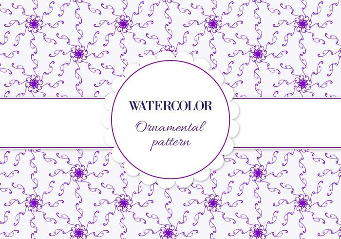Free Vector Aquarell Ornamental Muster