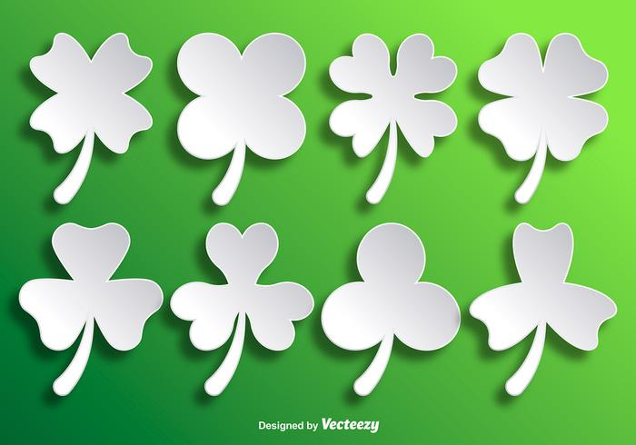 Paper White Vector Clovers