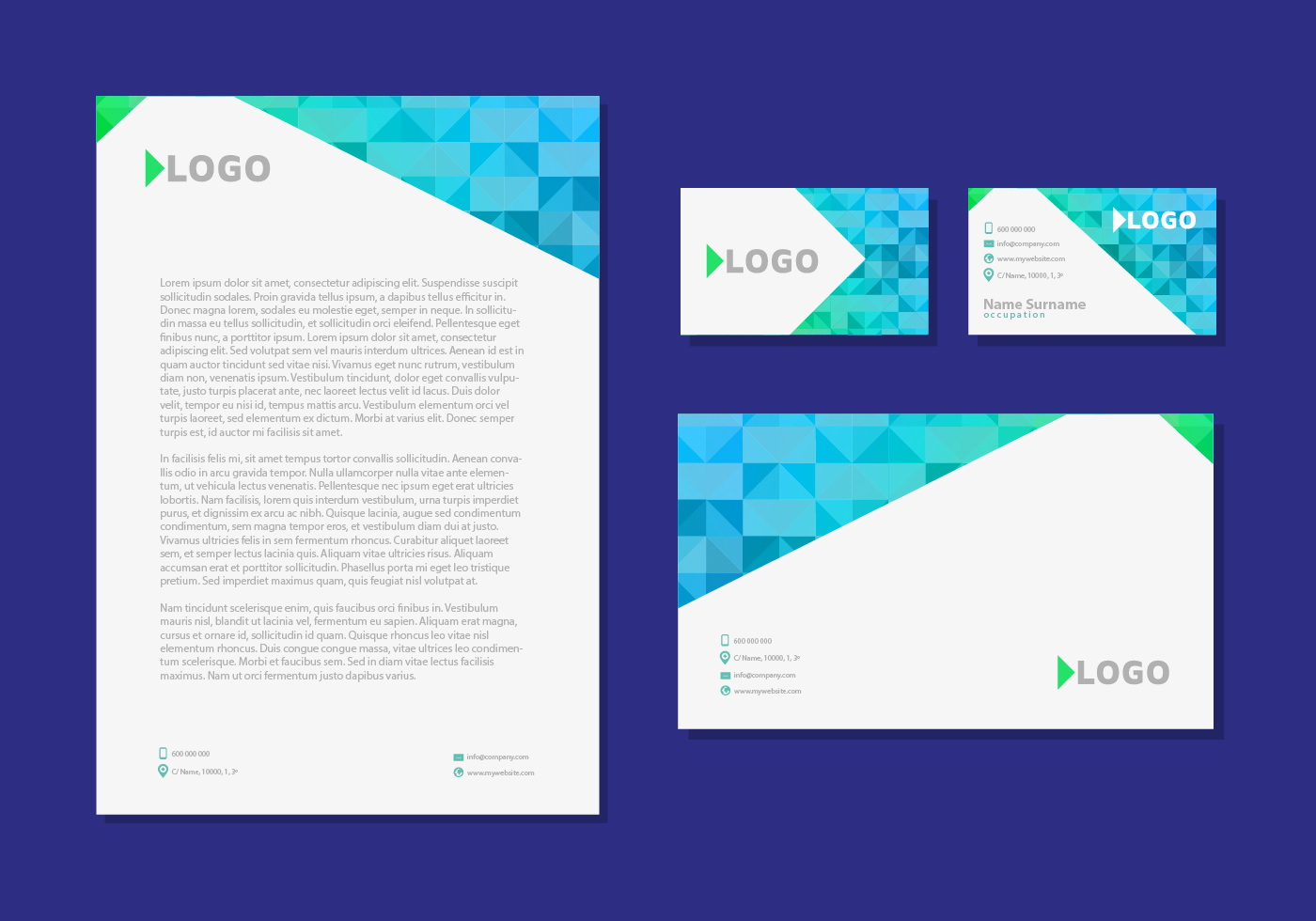 letter head design business cards corporate identity