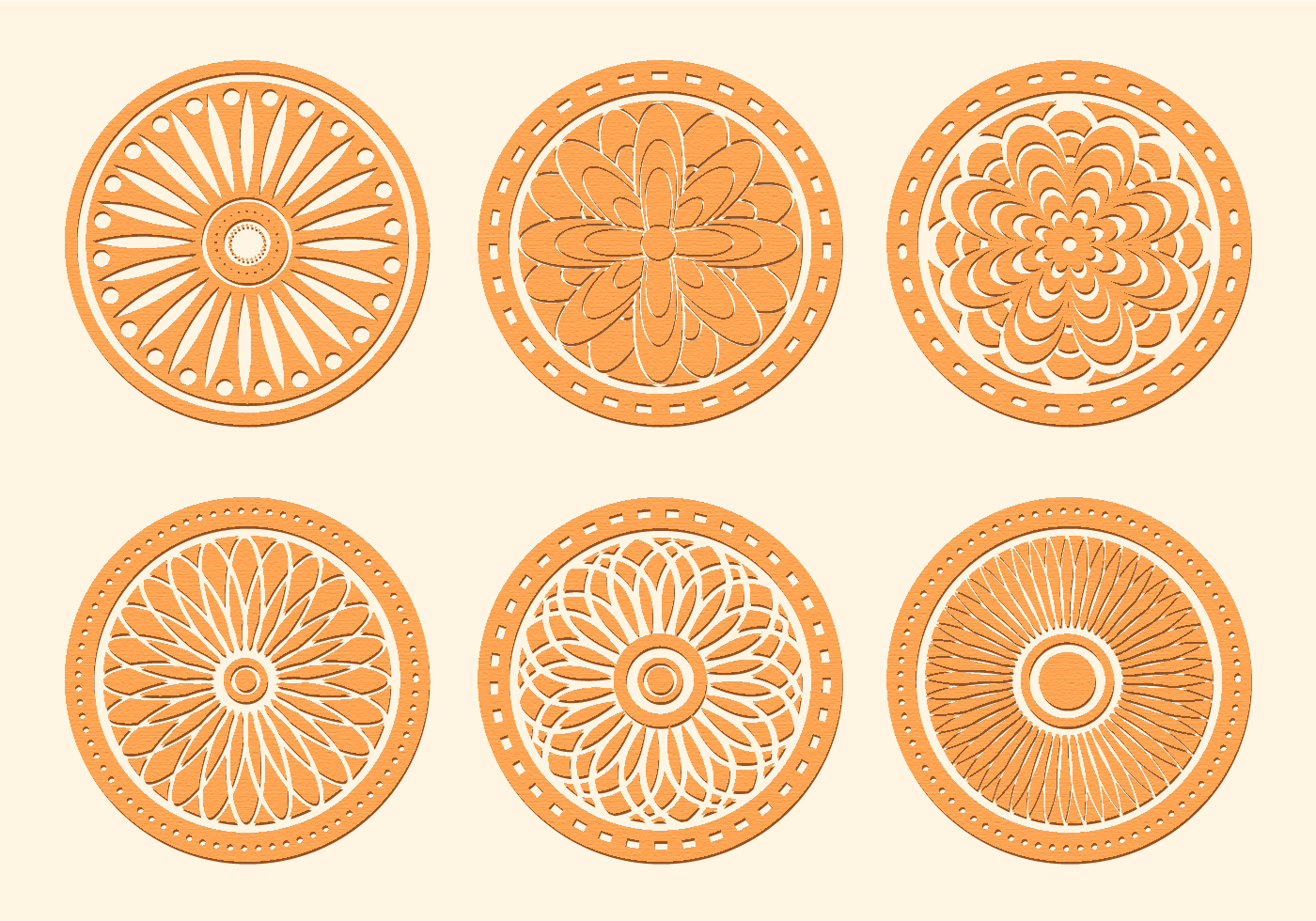 Free Vector Laser Cut Wood Coasters Download Free