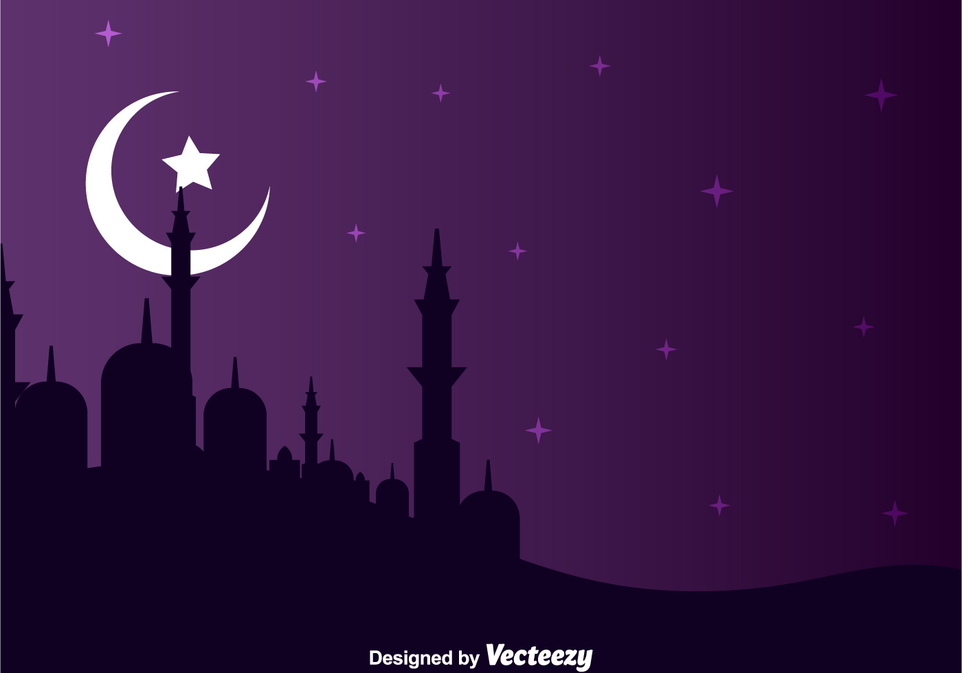 Paisaje nocturno árabe - Descargue Gráficos y Vectores Gratis