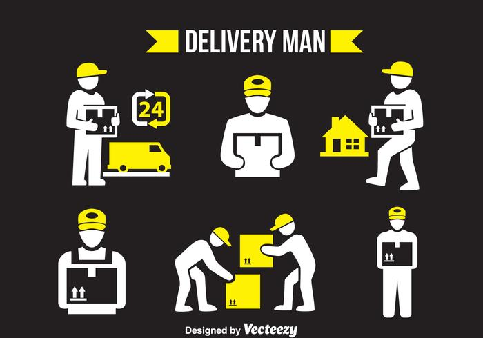 Delivery Man Vector Sets