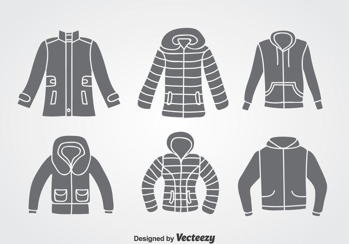 Winter Coat Vector Sets