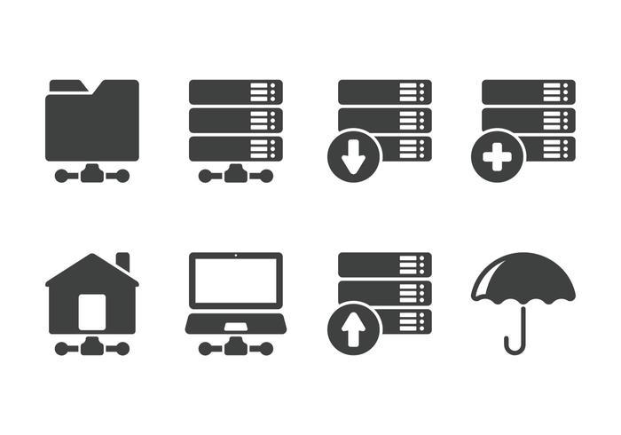 Icono de servidor minimalista