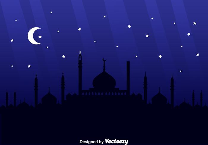 Arabischer Nachthintergrund vektor