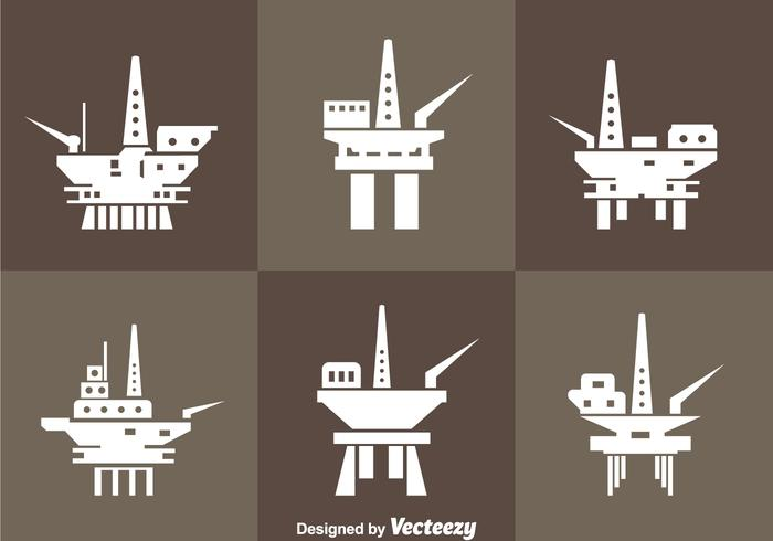 Oil Rig Offshore Icons