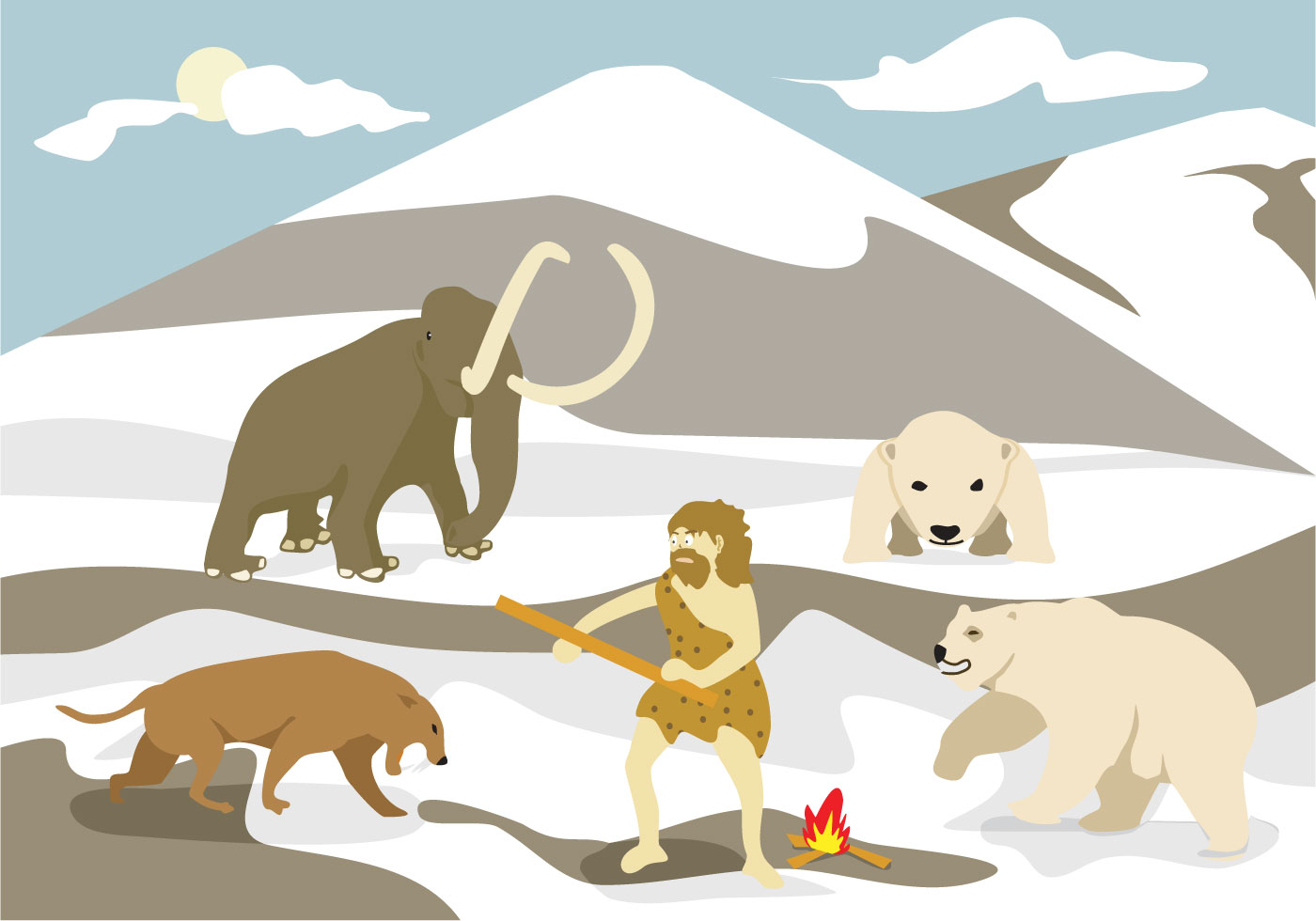 Ice Age Illustration Vector - Download Free Vector Art, Stock ...