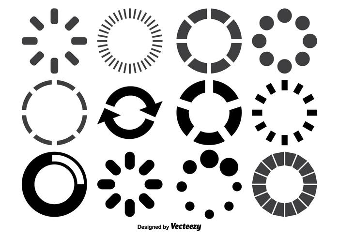 Loading Circles Shape Set vector