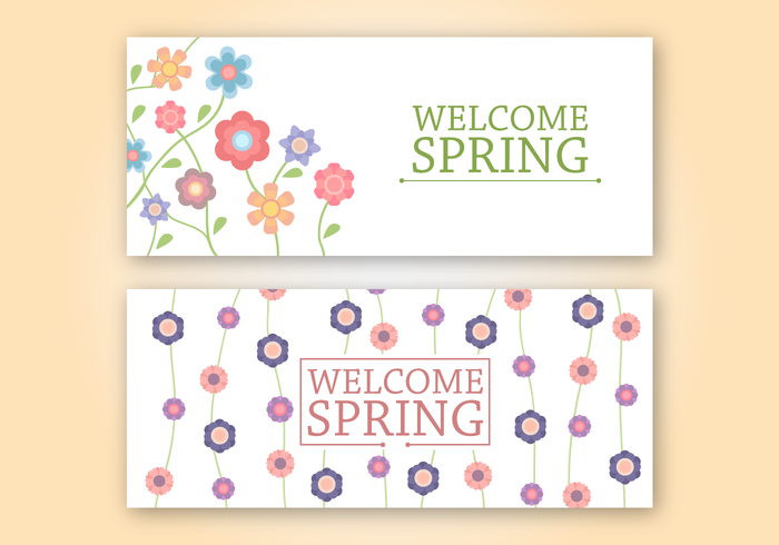 Free Spring Banner Vector