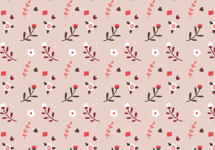 Free Pink Floral Pattern Vector