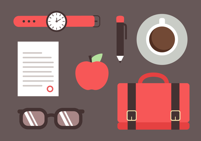 Gratis Office Elements Vector
