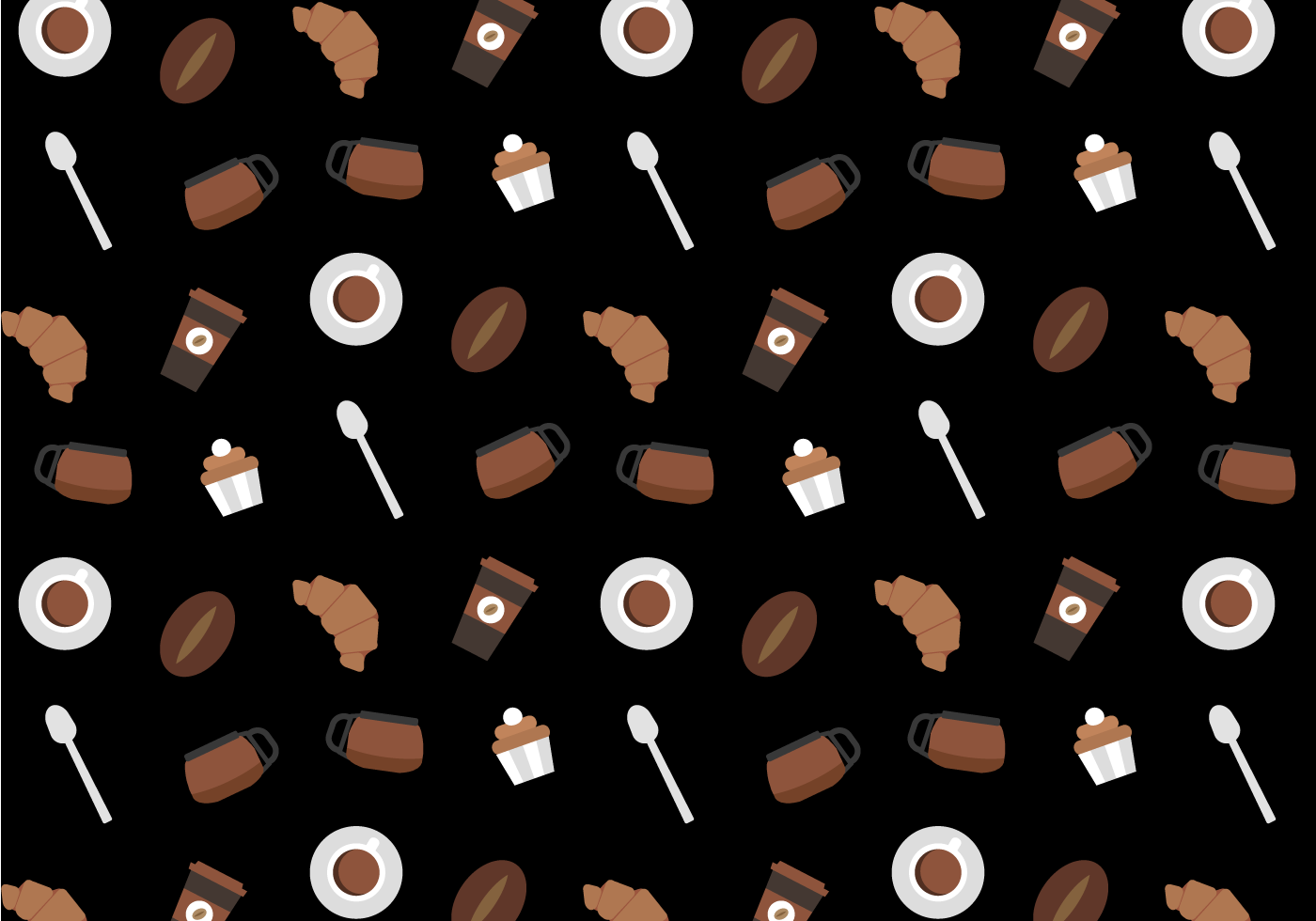 Free Coffee Pattern Vector Download Free Vector Art