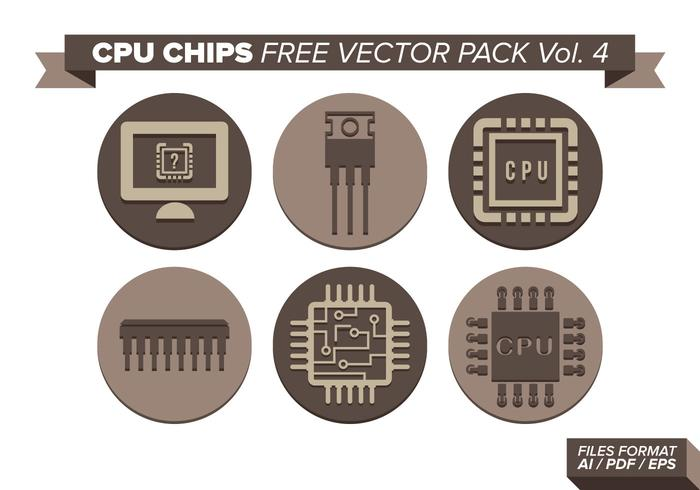 Cpu Chips Free Vector Pack Vol. 4