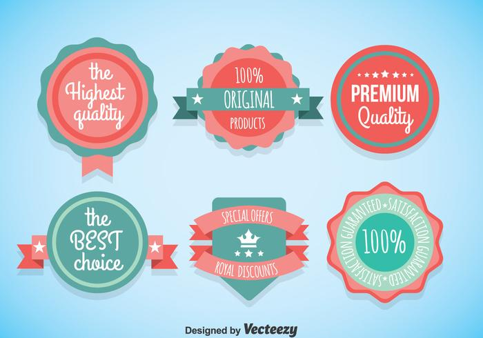 Cute Labels Vector Sets