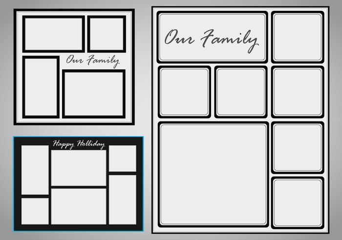 photo collage template vector set photo collage for a family photo
