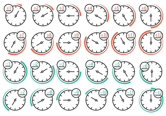 Time Zone Clock Icons
