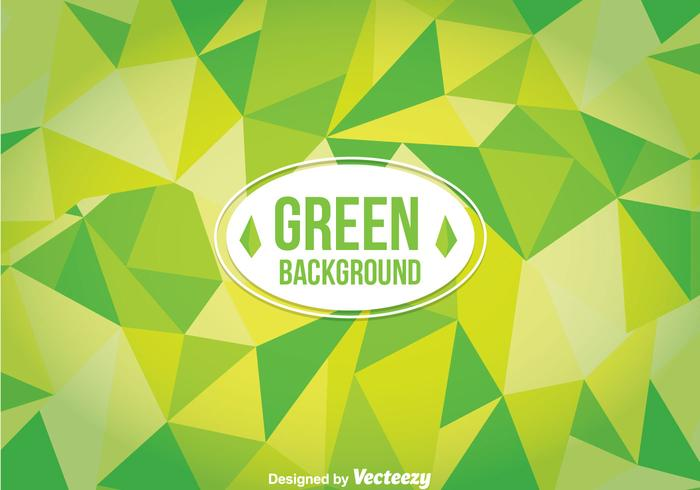 Green Poligon Background