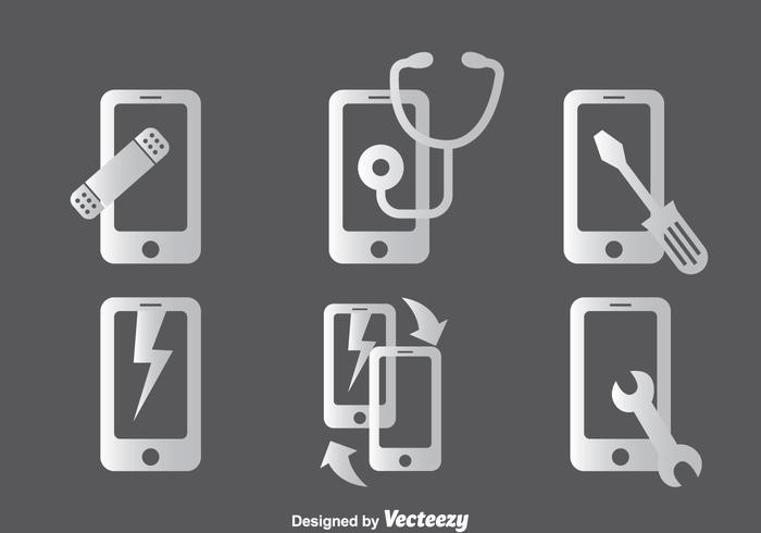 Set di icone di riparazione del telefono