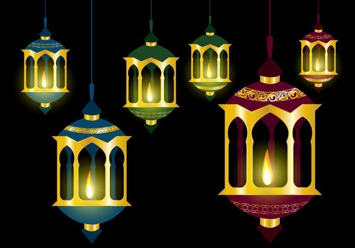 Oil Lamp Pelita Vectors