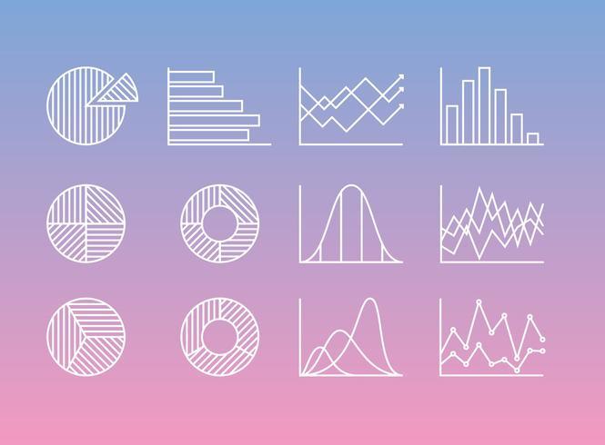 Linjestatistik ikoner