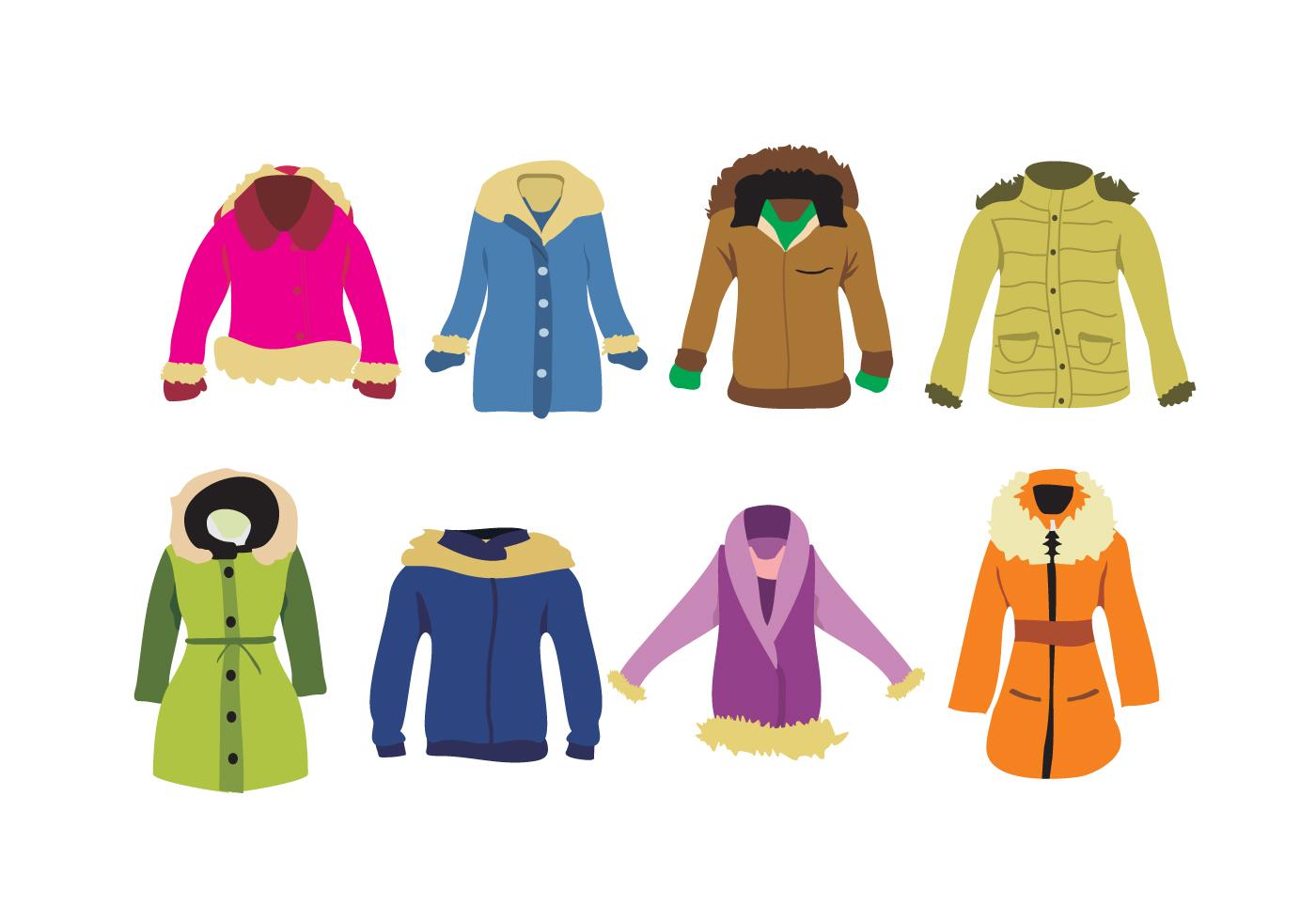 Ladies Winter Coat Vector - Download Free Vector Art ...