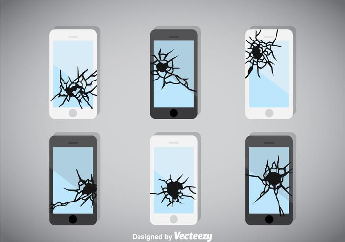 Broken Screen Telefon Vektor