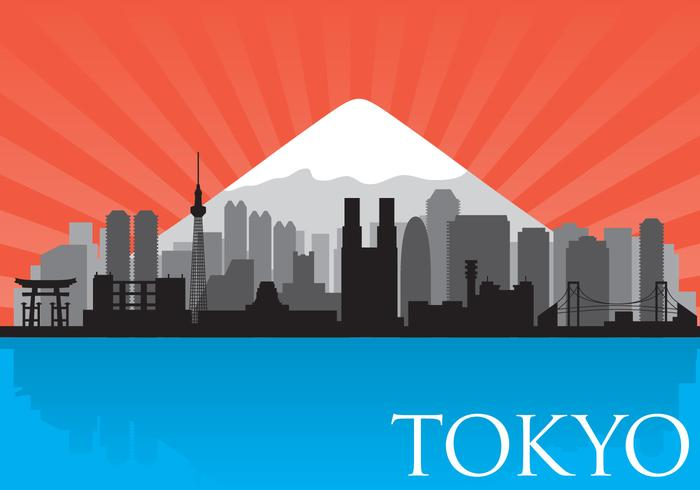 Vector de Skyline de Tokio