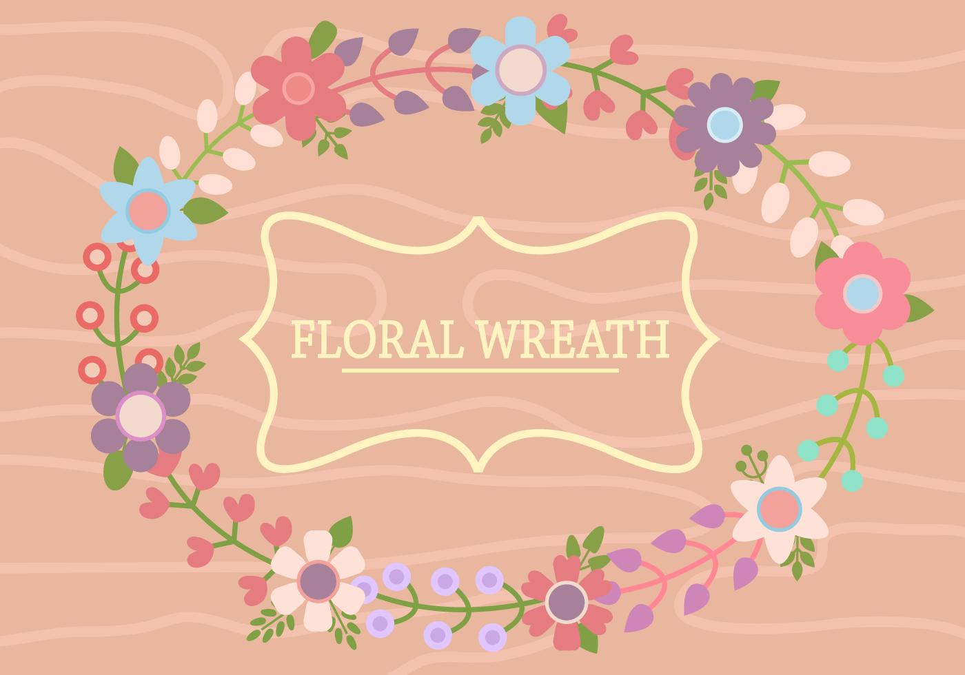 Free Flower Wreath Vektor - Kostenlose Vektor-Kunst, Archiv-Grafiken ...