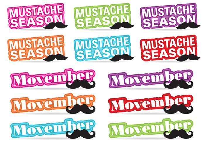 Movember Titel Vektoren