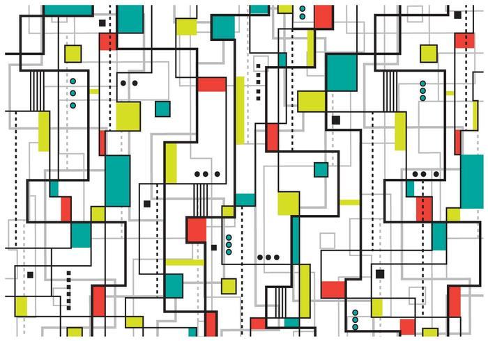 Bauhaus Achtergrond vector
