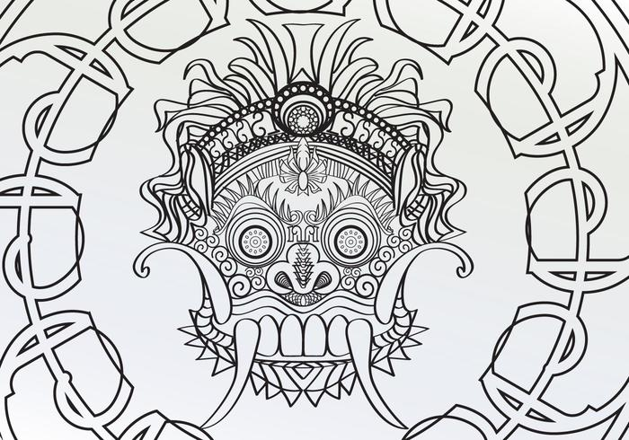 Coloring Adult Barong Page Vector