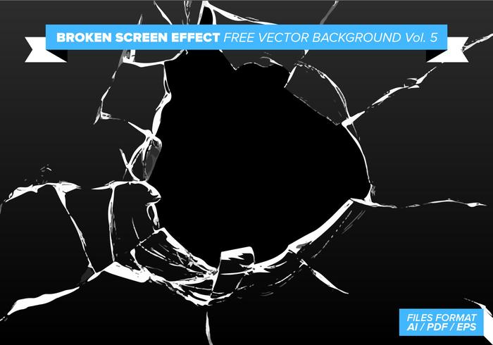 Broken Screen Effect Gratis Vector Background Vol. 5