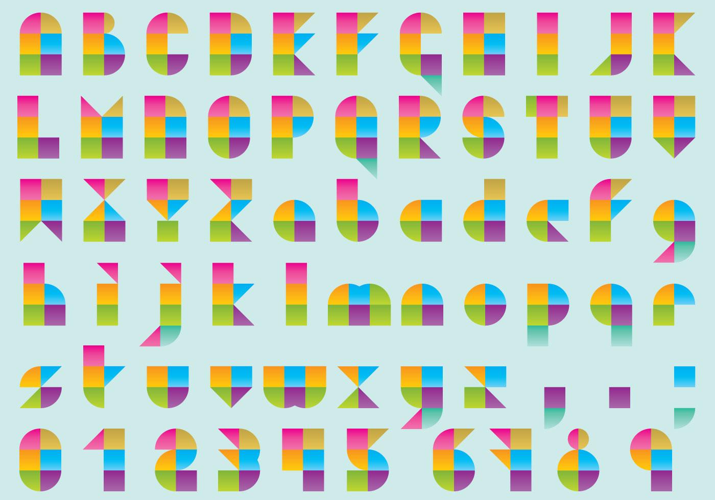 bauhaus modular type download free vector art stock graphics images