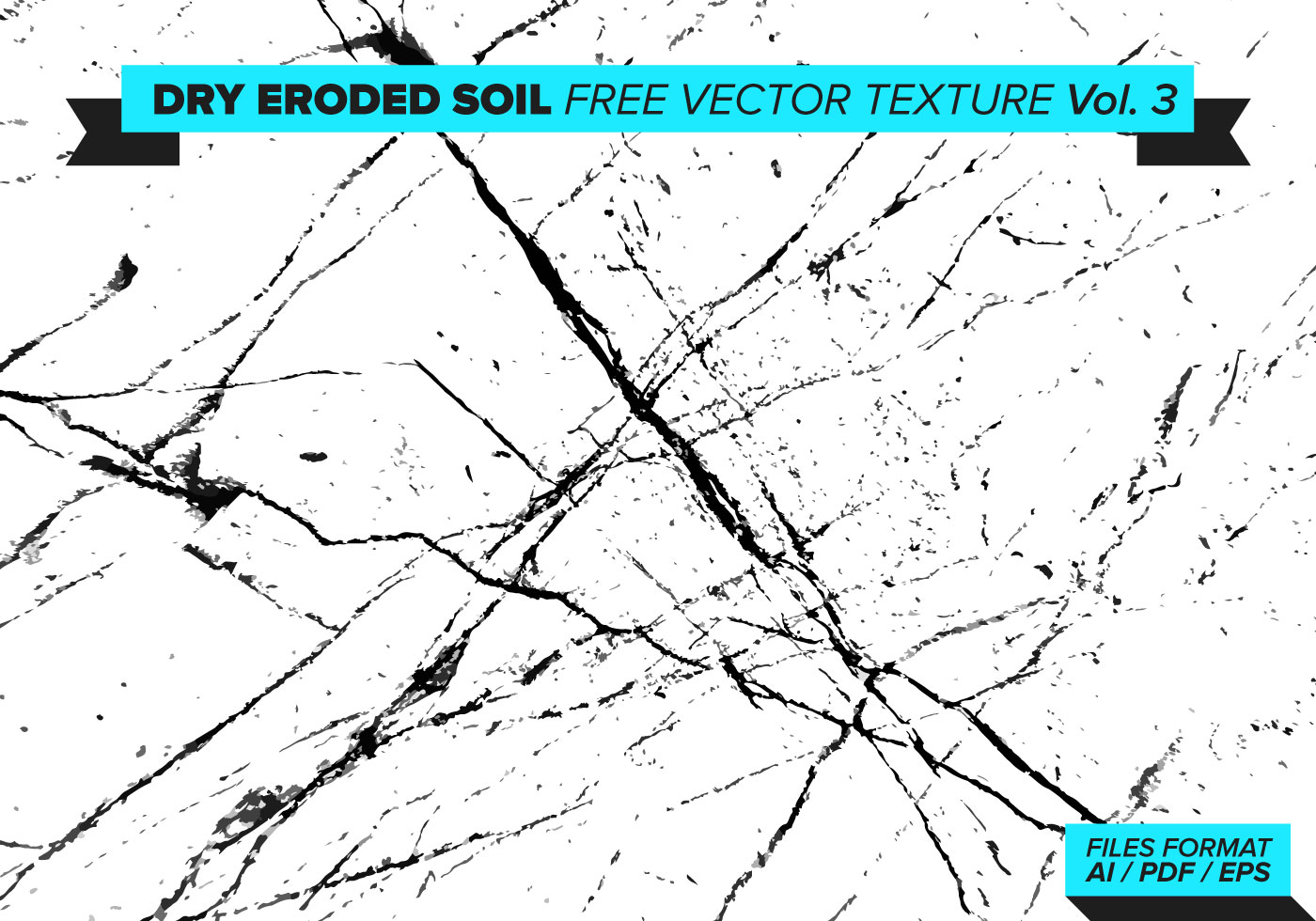 Dry Eroded Soil Vector Texture Vol. 3 - Download Free ...