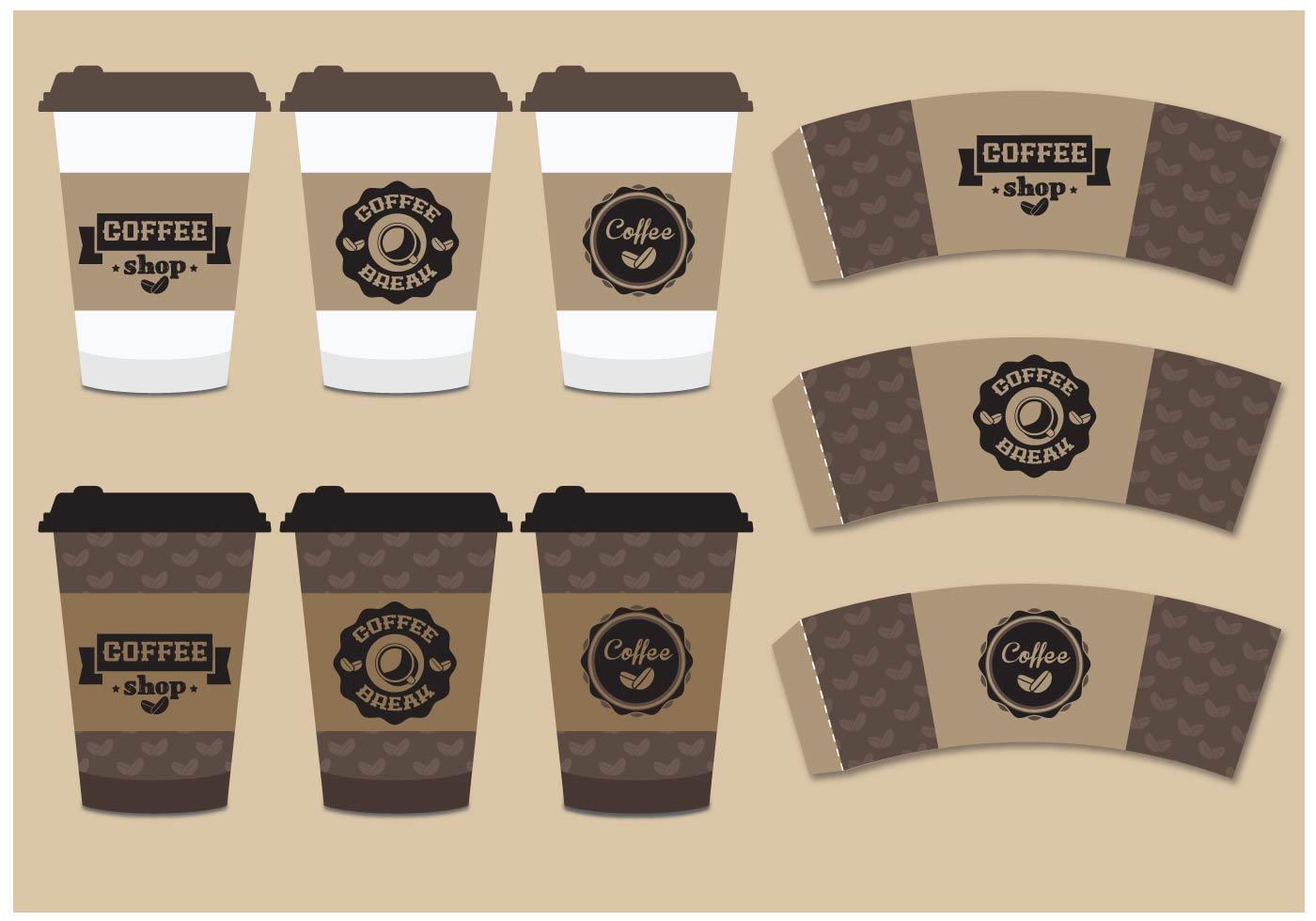 Coffee Sleeve Mock Up Download Free Vector Art Stock