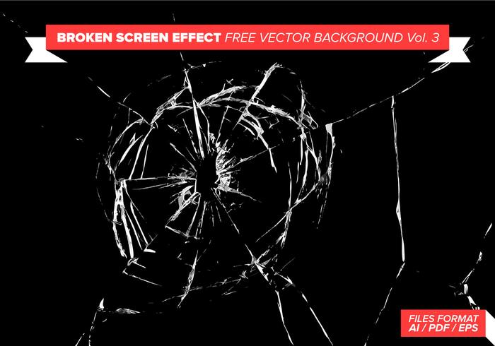 Broken Screen Effect Free Vector Background Vol. 3
