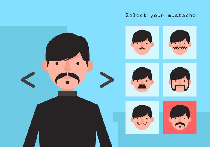 Vector Movember Mustache Options