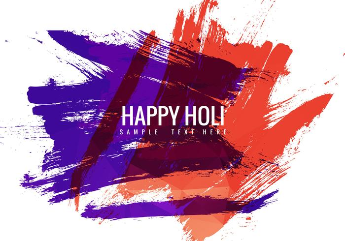 Free Holi Festival Vector Background
