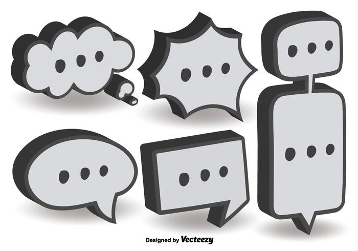 3D Dialog Bubble Vectors