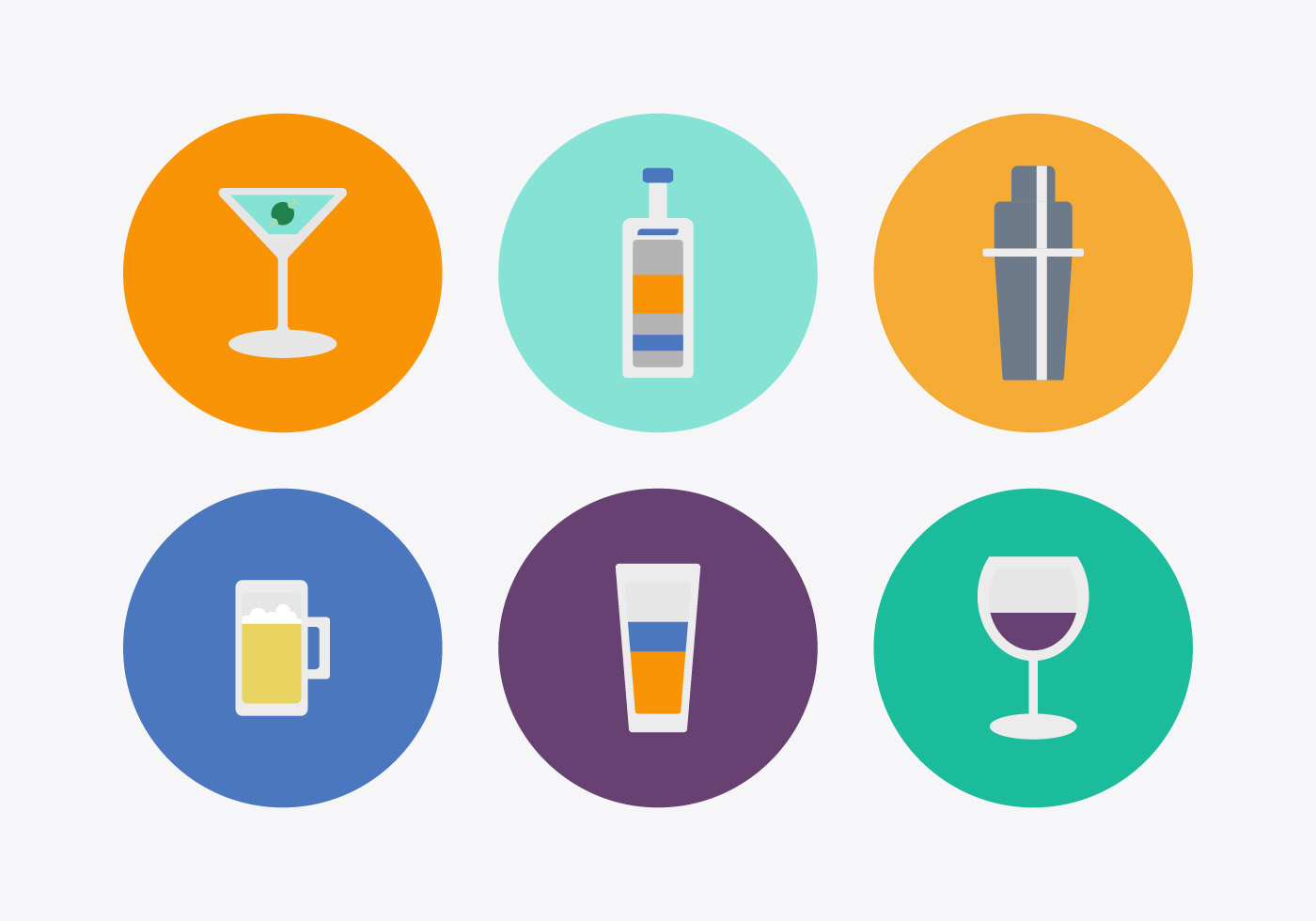 Free Download Png And Vector: Free Cocktail Vector Icons