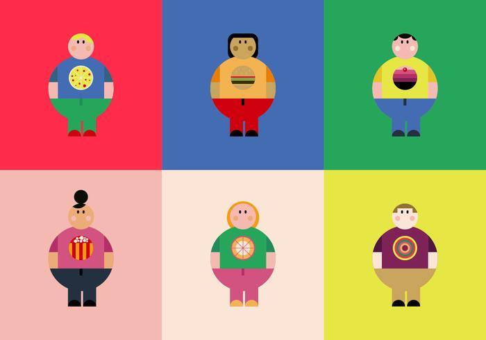 Gratis Overgewicht Personenvectoren