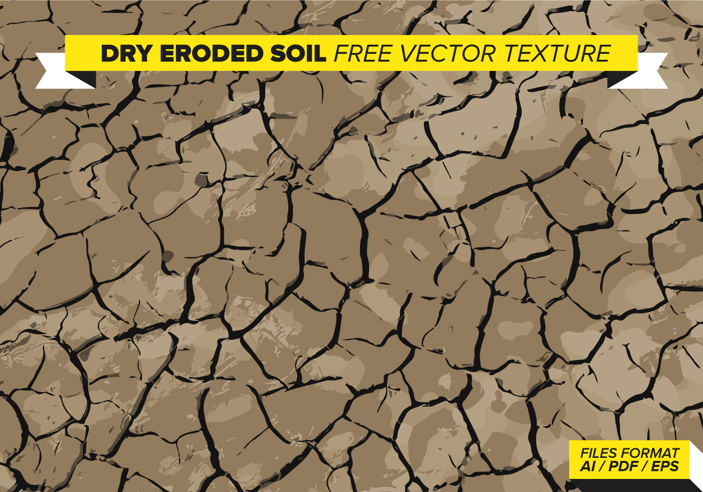Dry Eroded Soil Vector Texture - Download Free Vector Art ...