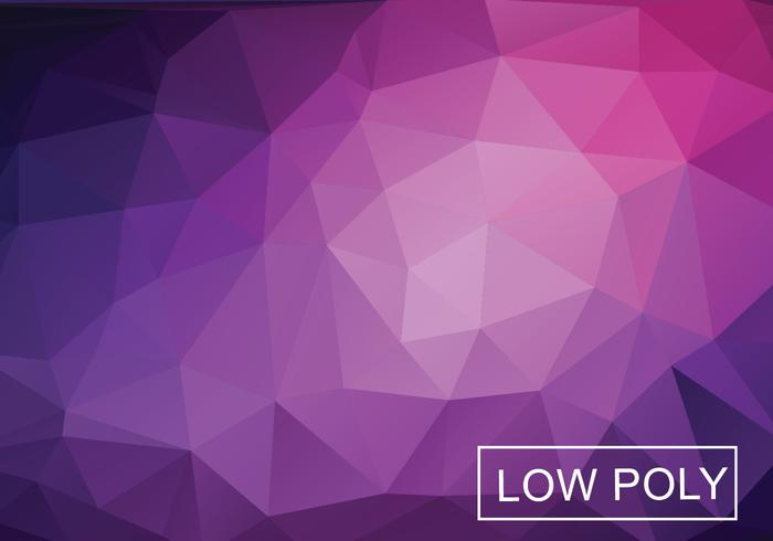 Low Polygonal Background Vector