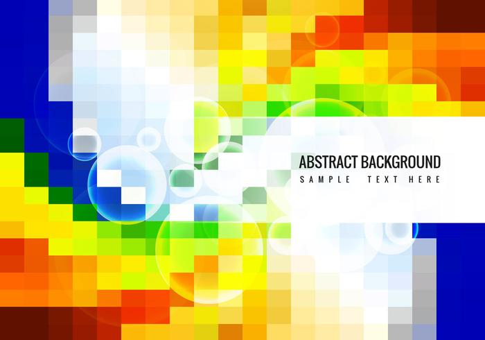 Free Colorful Mosaic Vector Background