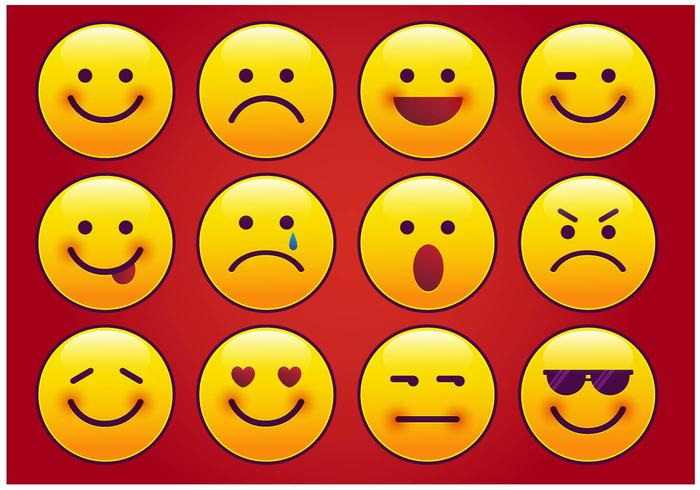 Modern Imessage Emoticon Vector Download Free Vector Art Stock