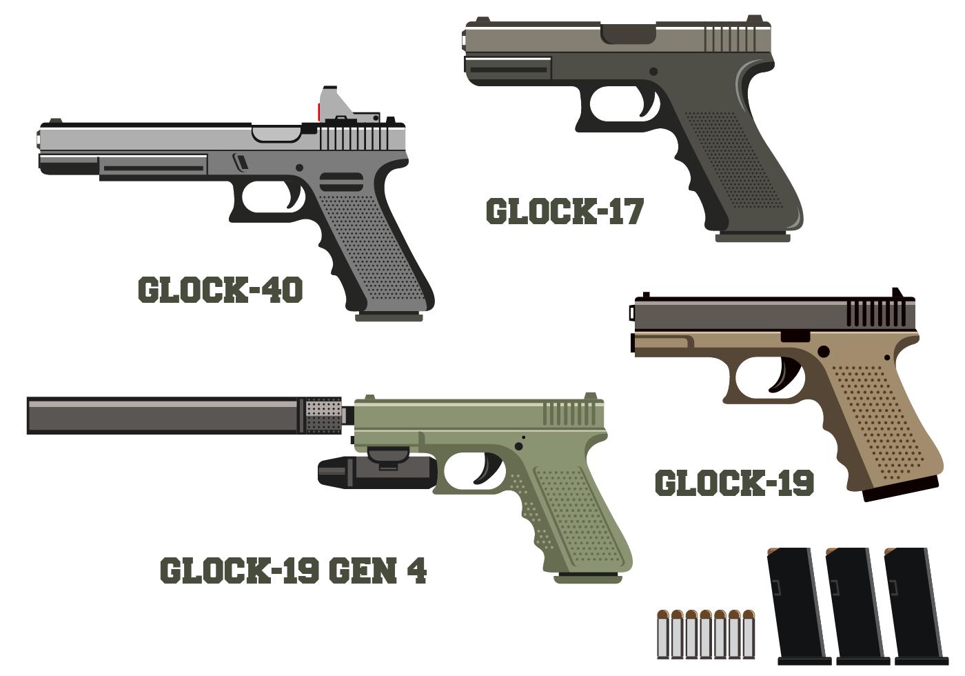 Free Glock Vector - Download Free Vector Art, Stock ...