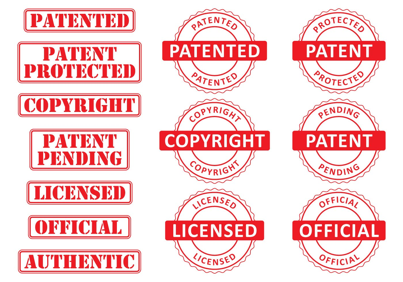 Patent Stamps Download Free Vector Art Stock Graphics